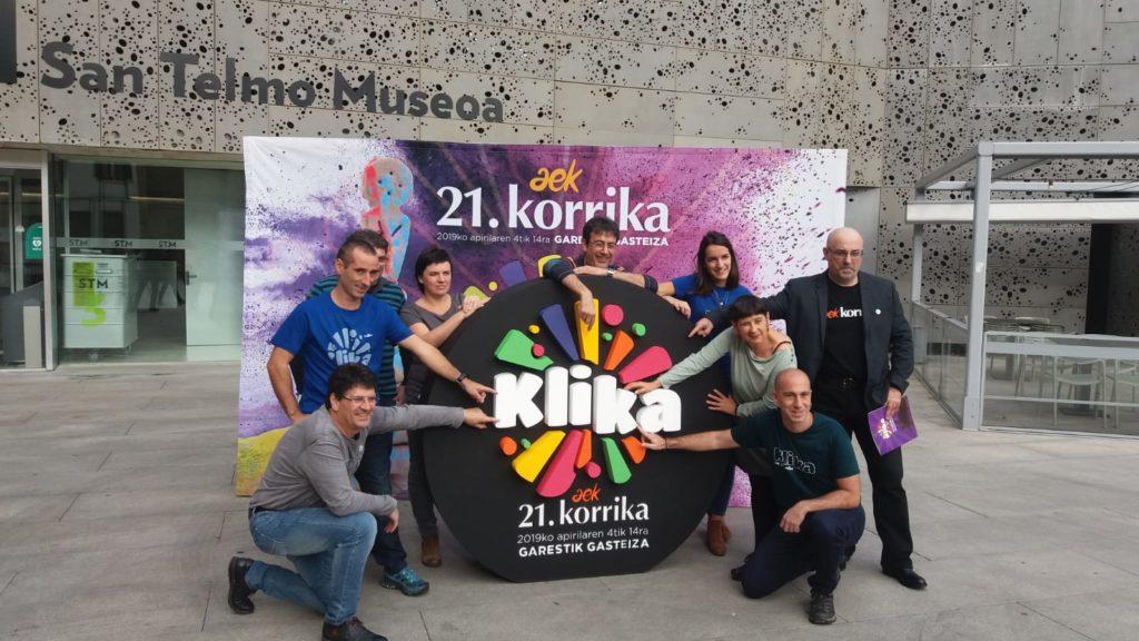 'Klik'  eginez  zeharkatuko  du  Korrikak  Euskal  Herri  osoa  apirilaren  4tik  14ra  bitartean