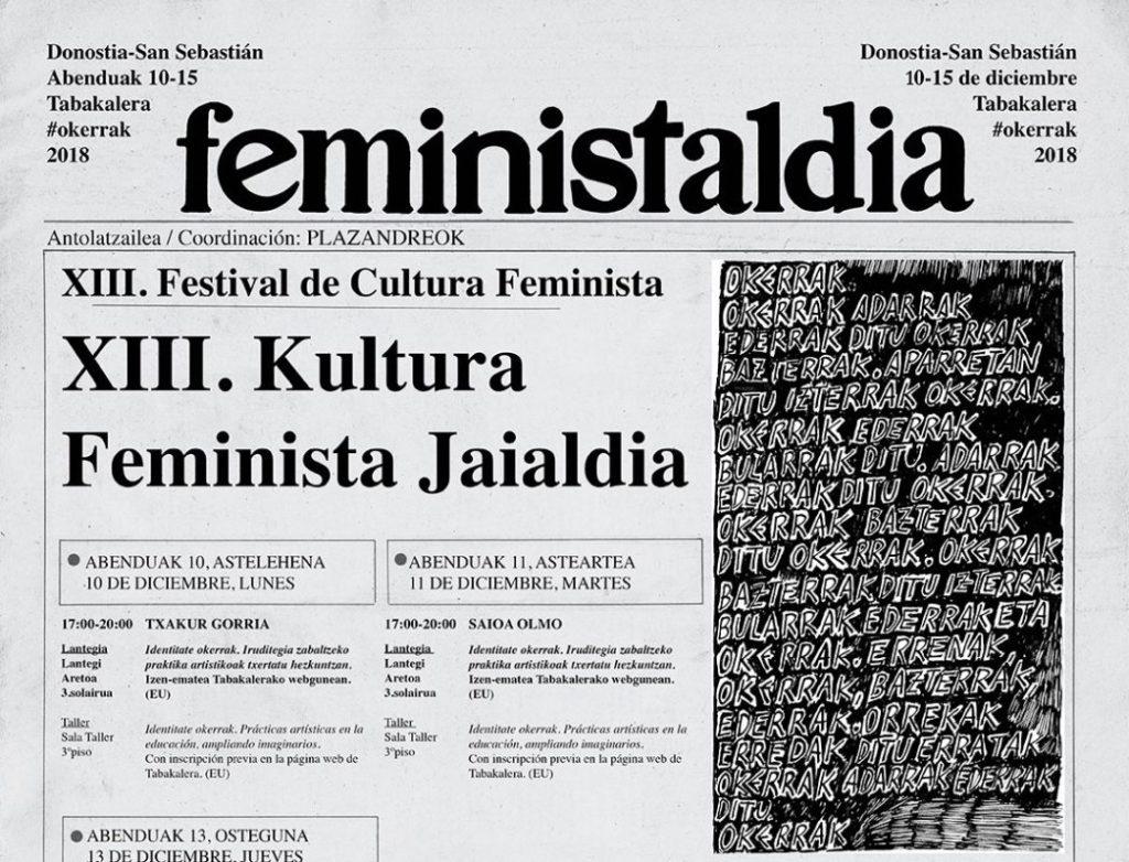 Abian  da  Feministaldia  Donostiako  Tabakaleran