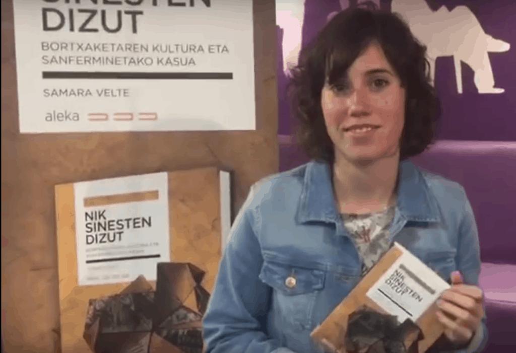 'Nik  sinesten  dizut'  liburua  aurkeztu  du  Samara  Veltek