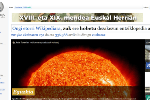 Wikipediako  29.  hizkuntza  da  euskara