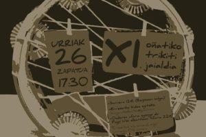 Urriaren  26an  egingo  dute  Oñatiko  XI.  Trikiti  jaialdia