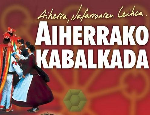 Musikariak,  makilariak,  dantzariak  eta  antzerkilariak  Aiherrako  Kabalkadan