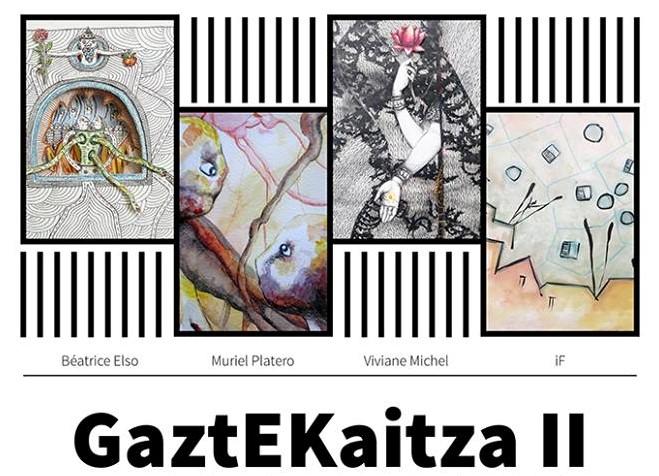 Lau  sortzaileren  lanak  GaztEKaitza  II  erakusketan  bildu  dituzte  Donibane  Garazin
