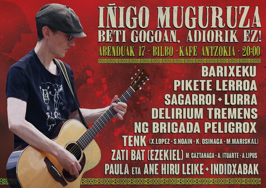 Iñigo  Muguruzari  omenaldia  egingo  diote  abenduaren  17an,  Bilboko  Kafe  Antzokian