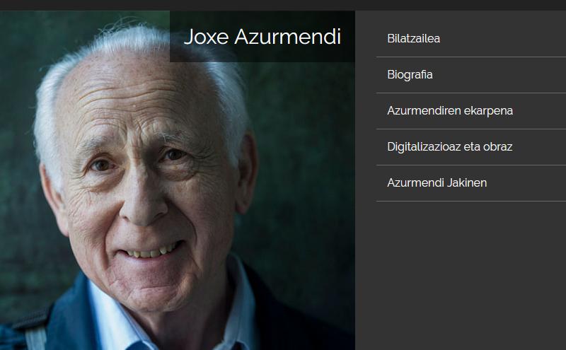 Joxe  Azurmendiren  obra  osoa  digitalizatu  eta  sarean  jarri  du  Jakinek