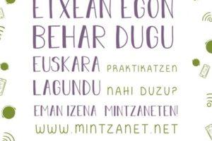 Euskara  etxetik  praktikatzeko  Mintzanet  egitasmoa  martxan