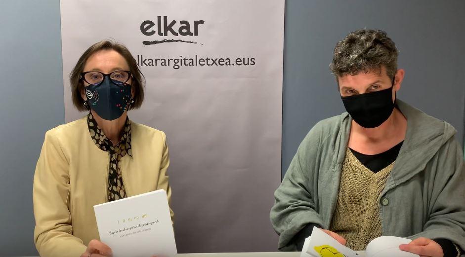 Ana  Urkizak  eta  Begoña  Durrutik  'Paperezko  ahozapietan  idatzitako  ipuinak'  bilduma  plazaratu  dute