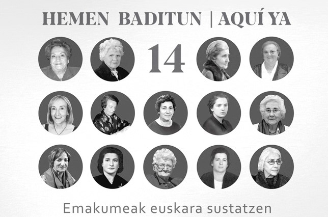 14  emakumek  euskararen  sustapenean  eta  normalizazioan  egindako  lanaren  berri  emateko  erakusketa,  Leitzan